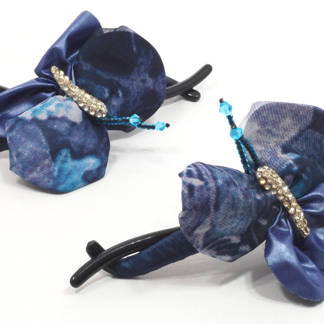 $15.90 - Korean Criss-Cross Hair Clip-Butterfly and CrystalDesign - SGD $15.90