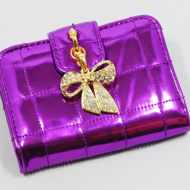 $23.90 - Card Holder-Metallic Crystal Ribbon Charm Design - SGD $23.90