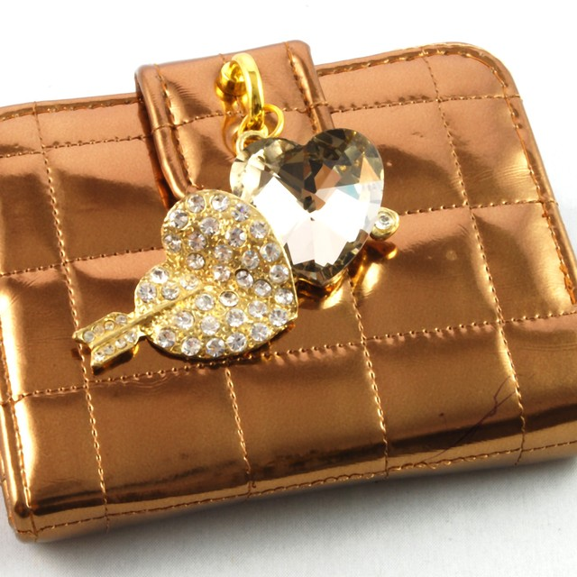 $23.90 - Card Holder- Double Heart Design - SGD $23.90