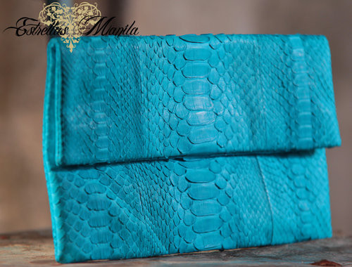 Authentic Snakeskin Leather Clutch - USD 95