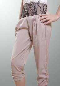 High Waist Capri Pants - on sale - SGD 10.00