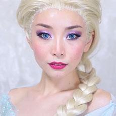 ASAHISASAKI 的冰雪奇緣仿妝