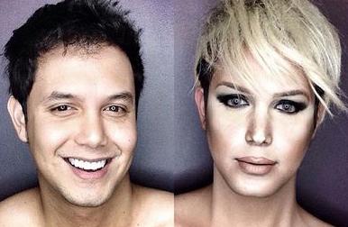神奇化妝術,這男人變身十大女人