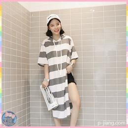 連帽條紋長版T恤 k0428 sum4176769933 韓國連線 P醬shop 代購 sumgirl