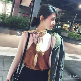 ❤️麂皮小背心 x 成熟感絲巾 x MA-1飛行夾克 #ma1 #fashion #todayoutfit #todaymakeup #outfit#ootd#
