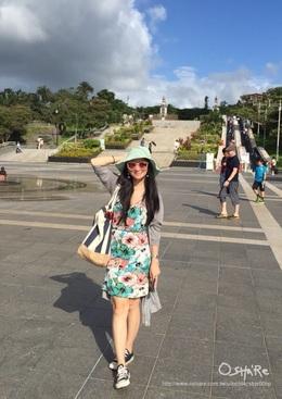 洋裝是孕婦的好朋友❤️而且在沖繩就是要穿花洋裝啊~